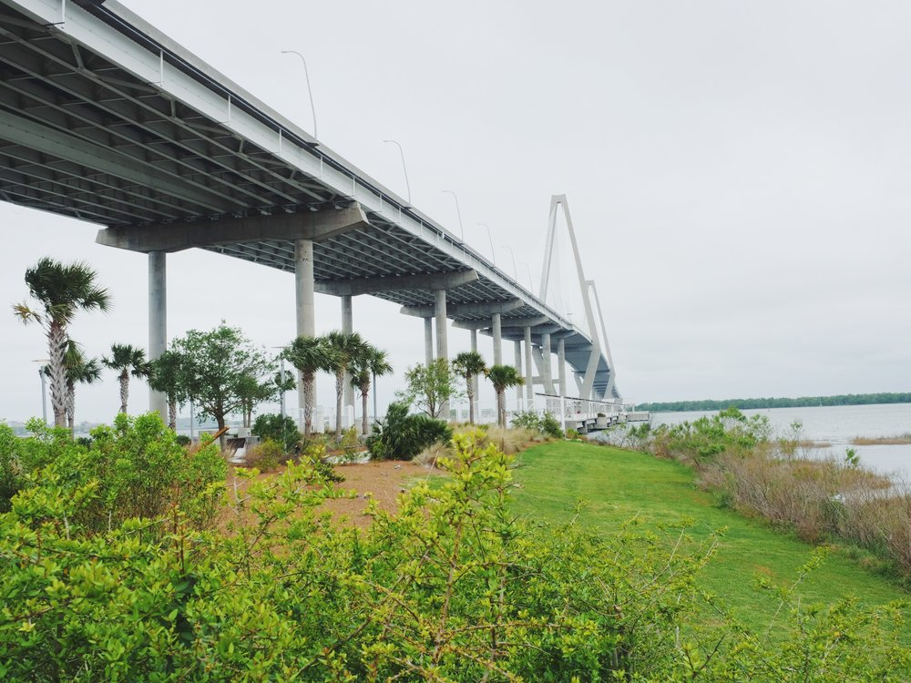 the t-rav bridge! any southern charm viewers out there?? if not, this is the ravenel bridge and you should watch southern charm because its the best show on tv.