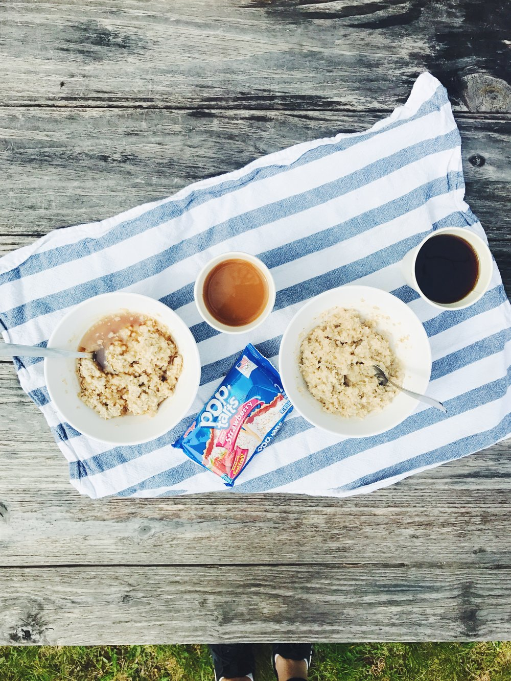 you just can't really beat oatmeal with locally made syrup and pop-tarts for breakfast. ;)