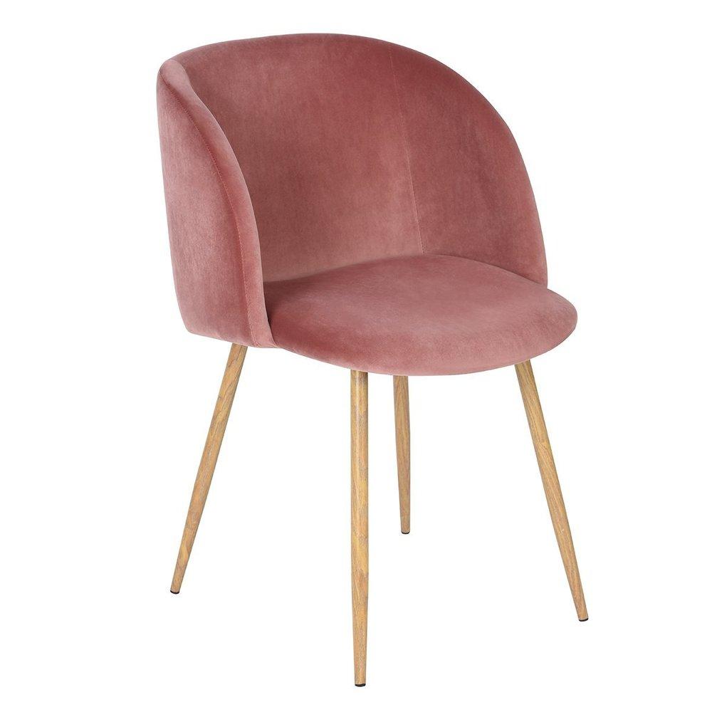 Copy of Mid-Century Blush Velvet Chair - $92