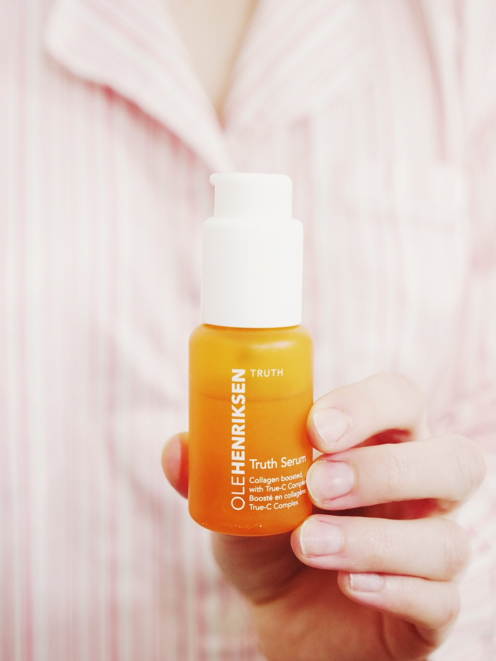 another product i love by ole henriksen is the vitamin-c truth serum. it helps elevate your glow and overall brightness    to use: every morning