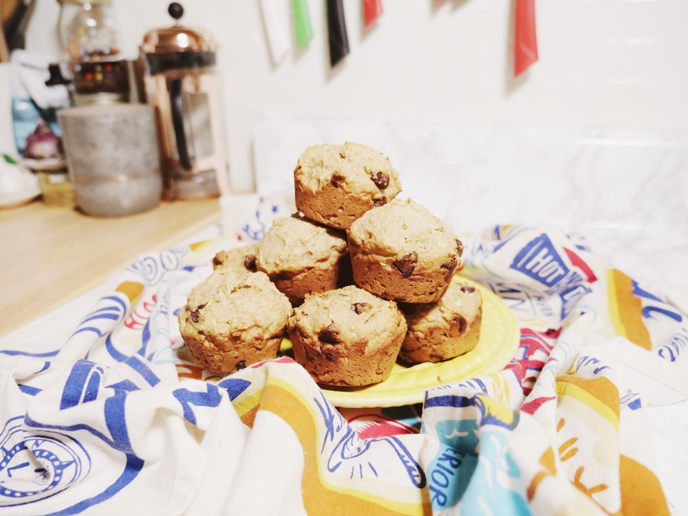 there you have it! guilt-free muffins so you can eat the whoooole thing ;)   xo,  grace