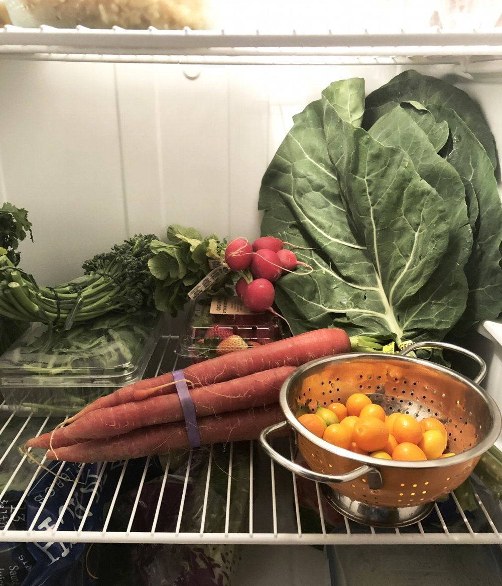 Farm Fresh To You produce in my refrigerator.