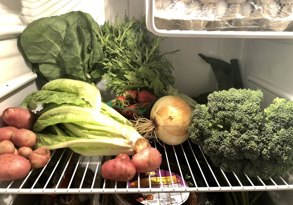 Full Belly Farm review produce in my fridge.