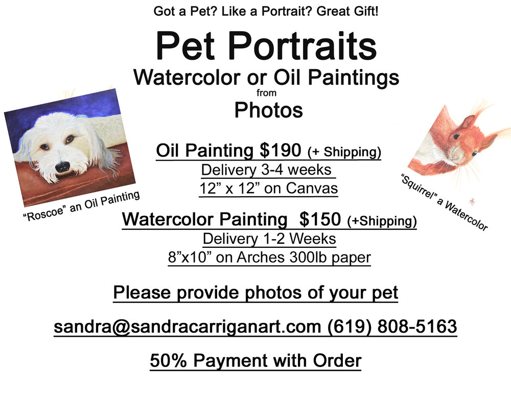 Giclee Prints of Sandra's Paintings $20 and $50. Call or text Sandra for more information.