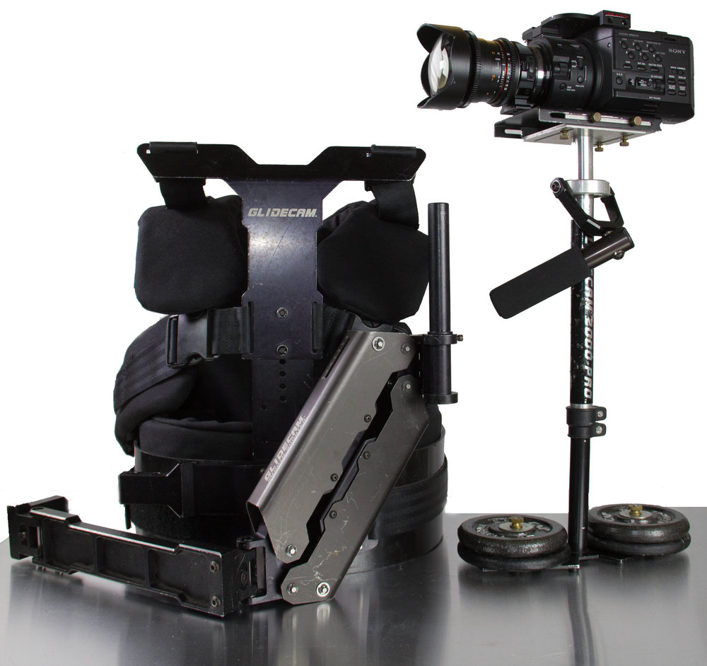 Glidecam SmoothShooter 2000 PRO camera stabilizer -  -Supports up to 18lb camera and accessories-Includes Vest / Arm / Stabilizer Gimbal / C-stand Dock / Toolkit / Counterweights-Gimbal can be used separately from vest for smooth handheld shots-Supports larger cameras that other servo systems cannot (Ronin, Movi, etc.)-Setup is fast and intuitive
