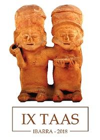 Composición de figurillas de cerámica de la cultura Bahía (Ecuador), aprox. 300 a.C. - 600 d. C. La pareja representada está constituida por dos mujeres, una de ellas cargando un bebé en sus brazos.