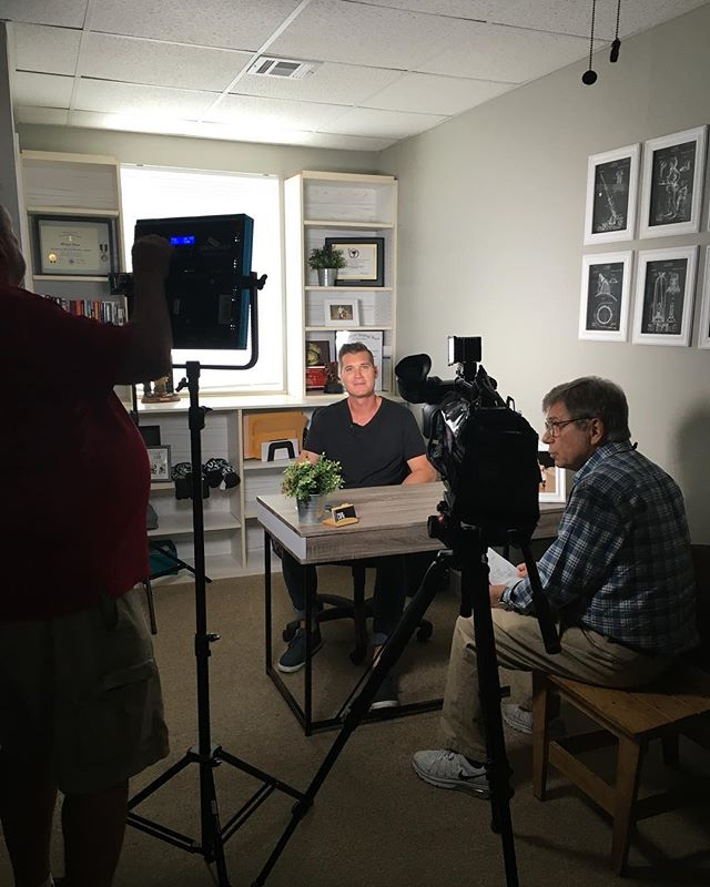 1st interview in our new office! Watch @baynews9 November 12th to catch our story!  #YLMP #YourLifeMattersProject #baynews9 #manateecounty #bettertogether #makeadiffernece #addictionawareness