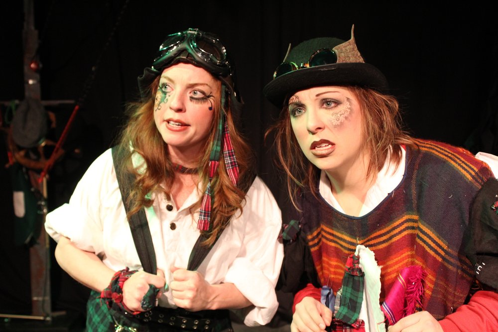 Karin Carr  as The Lass   and  Jessica Hall  as The Rag Man