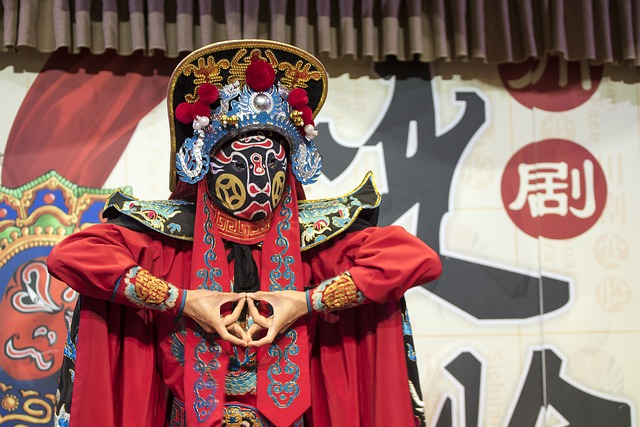 Chinese Opera Performer in mask