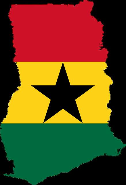 Ghana Map and Flag Design
