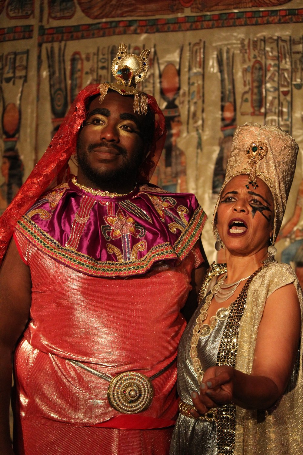James Brunt  as Queen Astarte &  Artie Thompson  as King Byblos