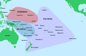 Map of Polynesia