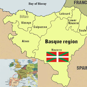 Map of The Basque Country.