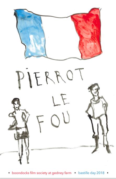 Bastille Day w/ Jean Luc Godard's Pierrot