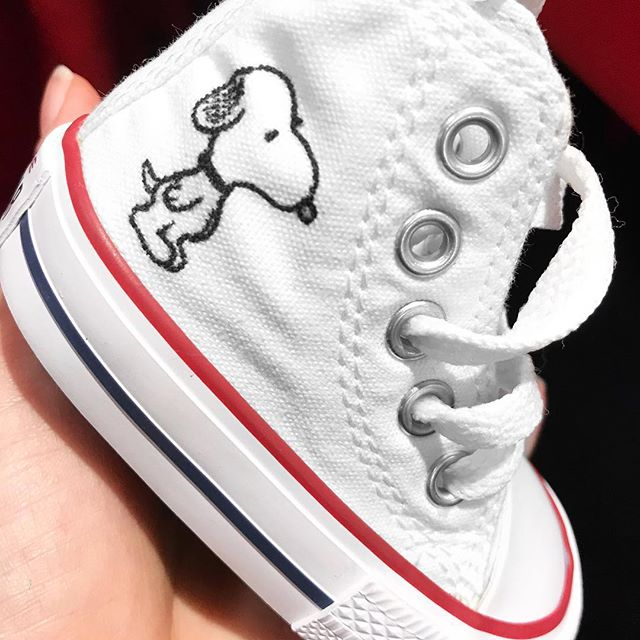 Toddler Snoopy @converse from my @nordstrom event 🙃