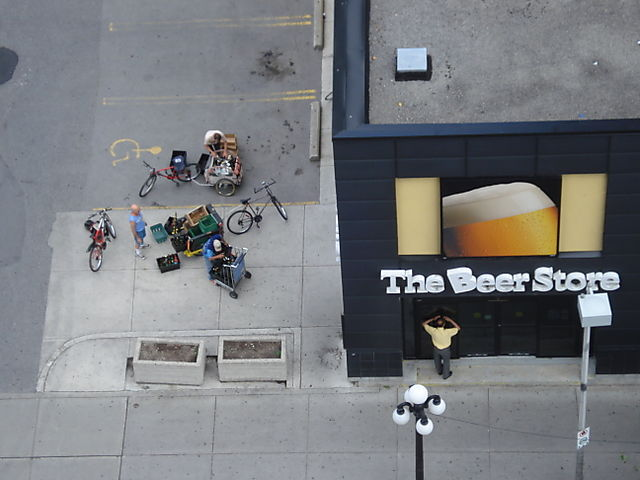 Beer store bike rally