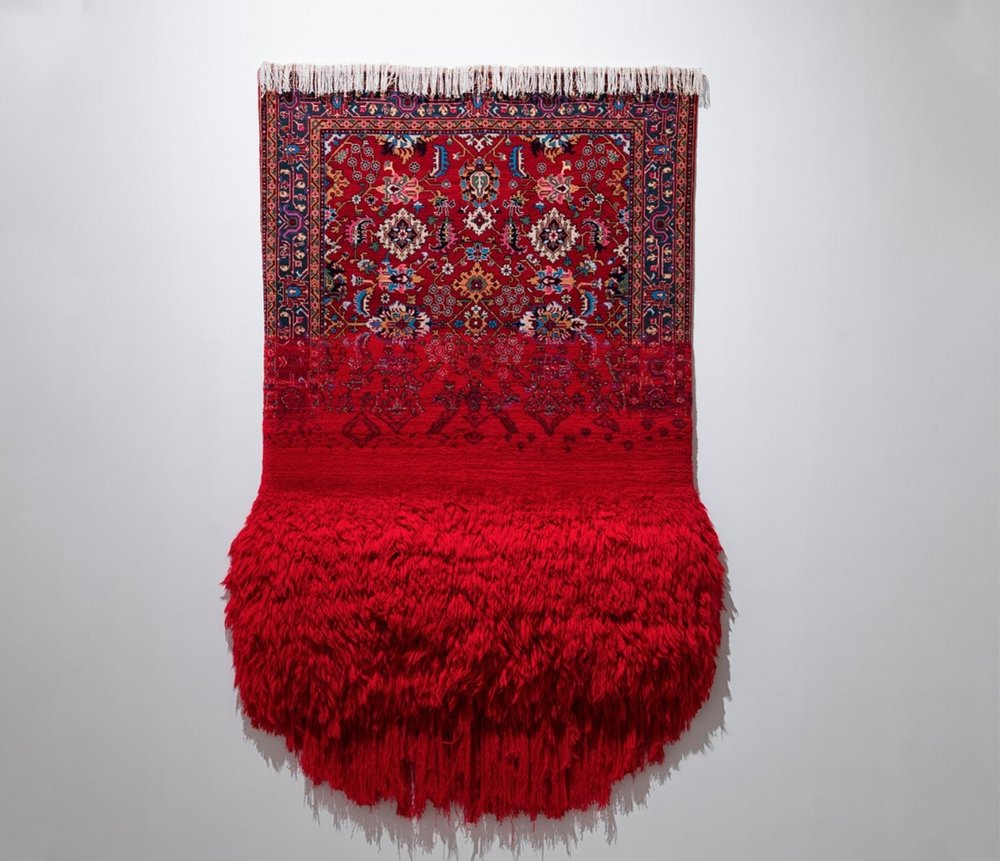 Faig Ahmed,  Virgin , It is what It is Series, 2017, Handmade Woolen Carpet, 200 x 150 cm.  http://www.faigahmed.com/index.php?lang=en&page=8&projID=33