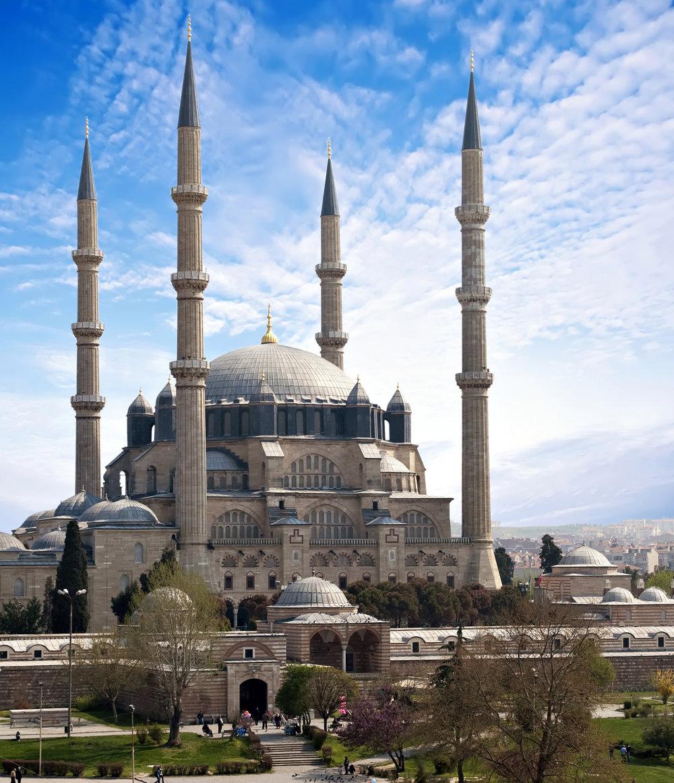 Mosque of Selim II. Edirne, Turkey.  http://deitchman.com/mcneillslides/images/MosqueofSelimII.jpg