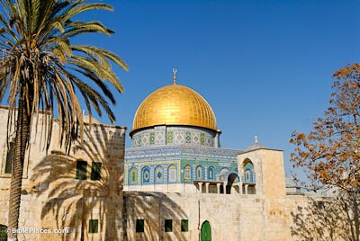 Dome of the Rock. Old City, Jerusalem  https://www.bibleplaces.com/wp-content/uploads/2015/07/Dome-of-the-Rock-from-southwest-tb122006948-bibleplaces.jpg