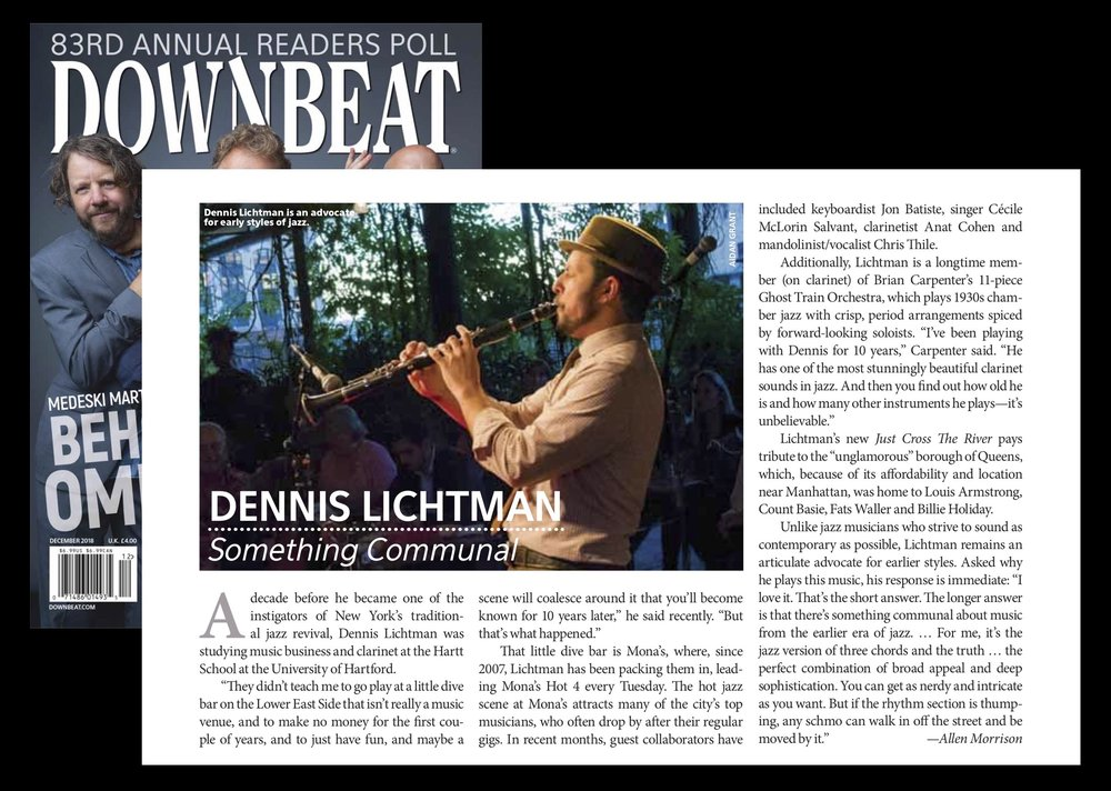 Dec 2018 Downbeat DENNIS LICHTMAN