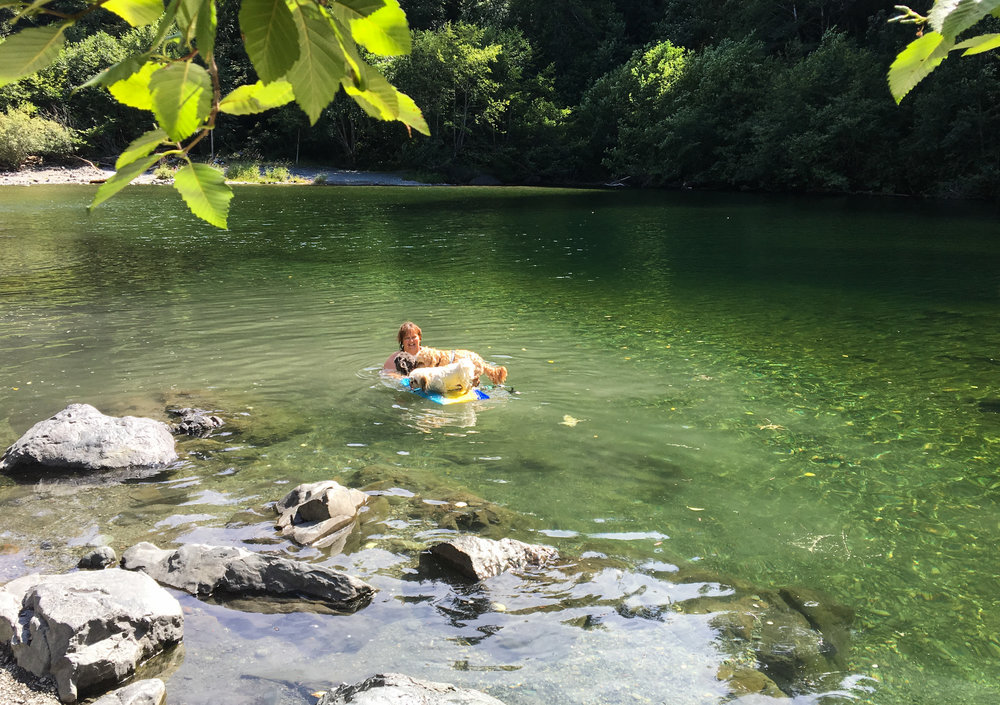 Sooke Potholes Swimming