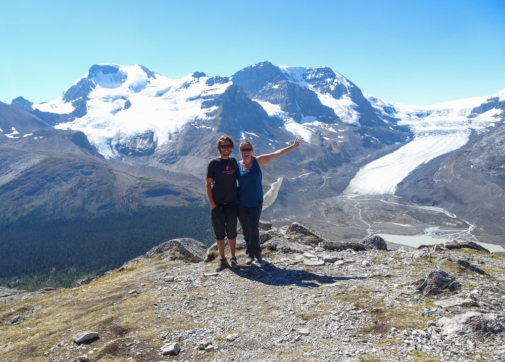 Summit of Wilcox Pass in Jasper National Park