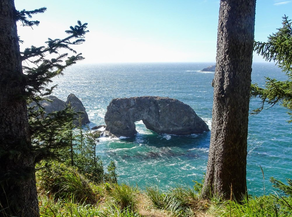 Arch Rock Along Oregon Coast