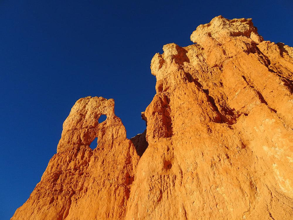 The hoodoos look like sandcastles from below!