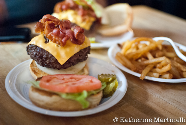 Blogger Katherine Martinelli tried every burger downtown; Corner Bistro was her favorite!