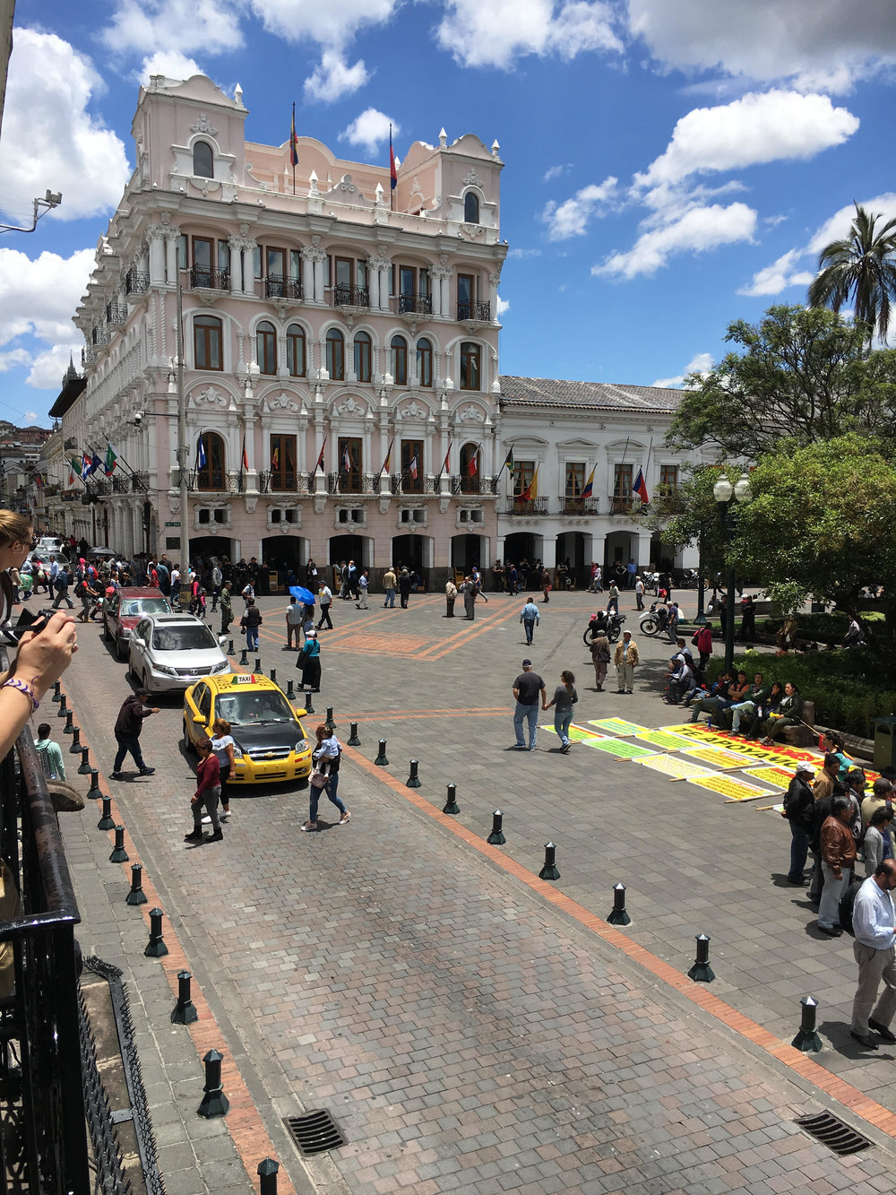 La Plaza Independencia in Quito