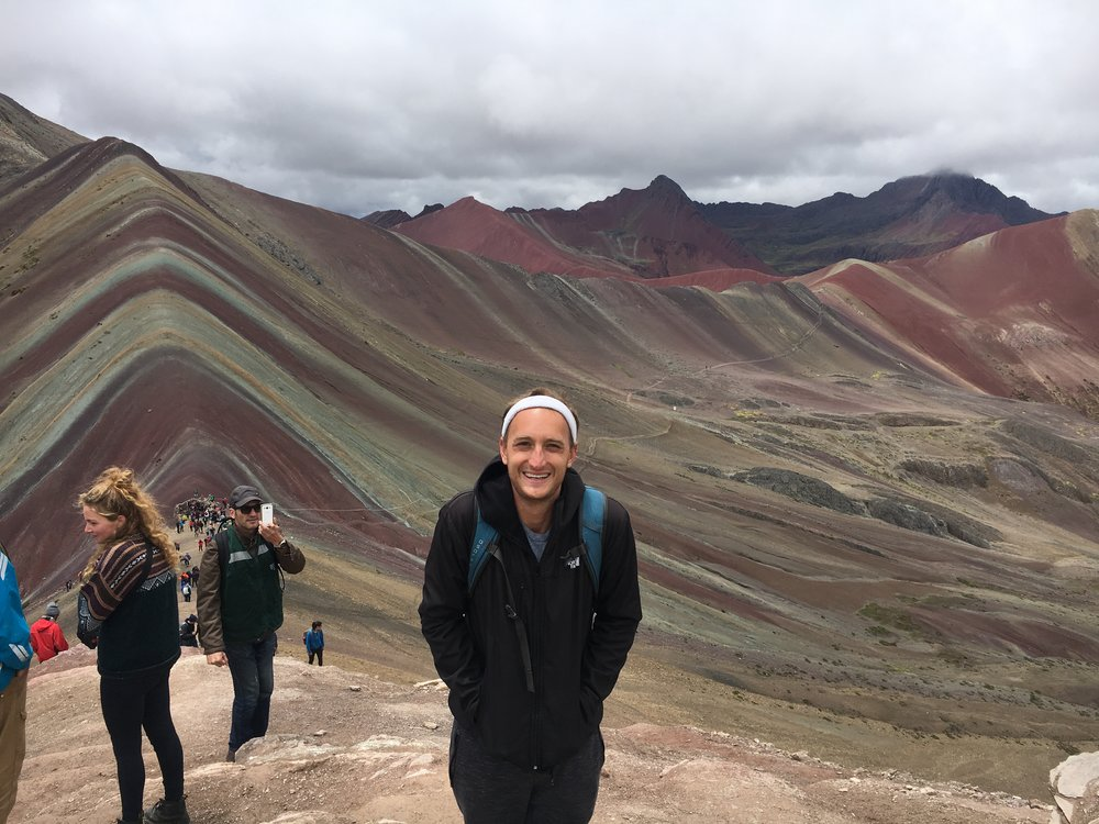 Just another gay visits Rainbow Mountain.
