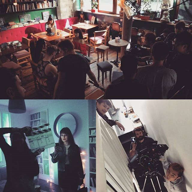 Full on shooting. Thank you to all of you who made this happen! #amazingpeeps #awesomecrew #emey #filmmaking
