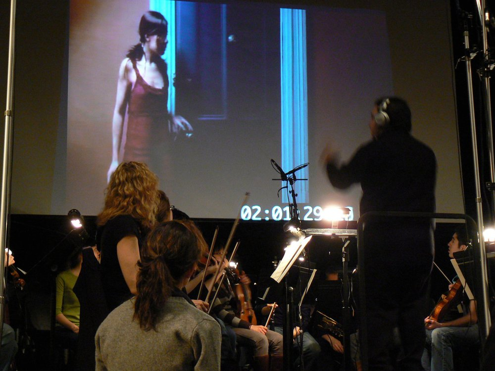 Film score recording session for  The Grey Woman  with full Orchestra.