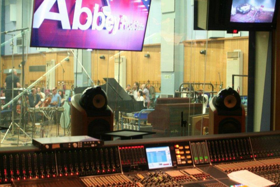 Caruso and da Silva recording at Abbey Road Studio 1 with the London Symphony Orchestra
