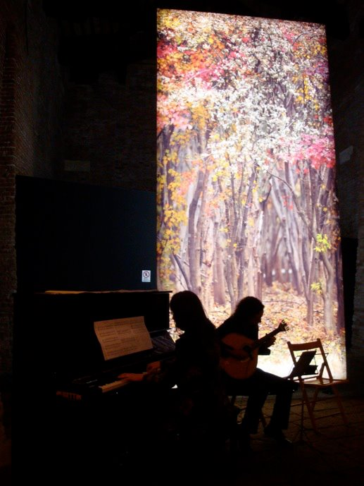 "Caruso and da Silva live scoring ""Through My Window"" at Magazzini del Sale, in Venice"