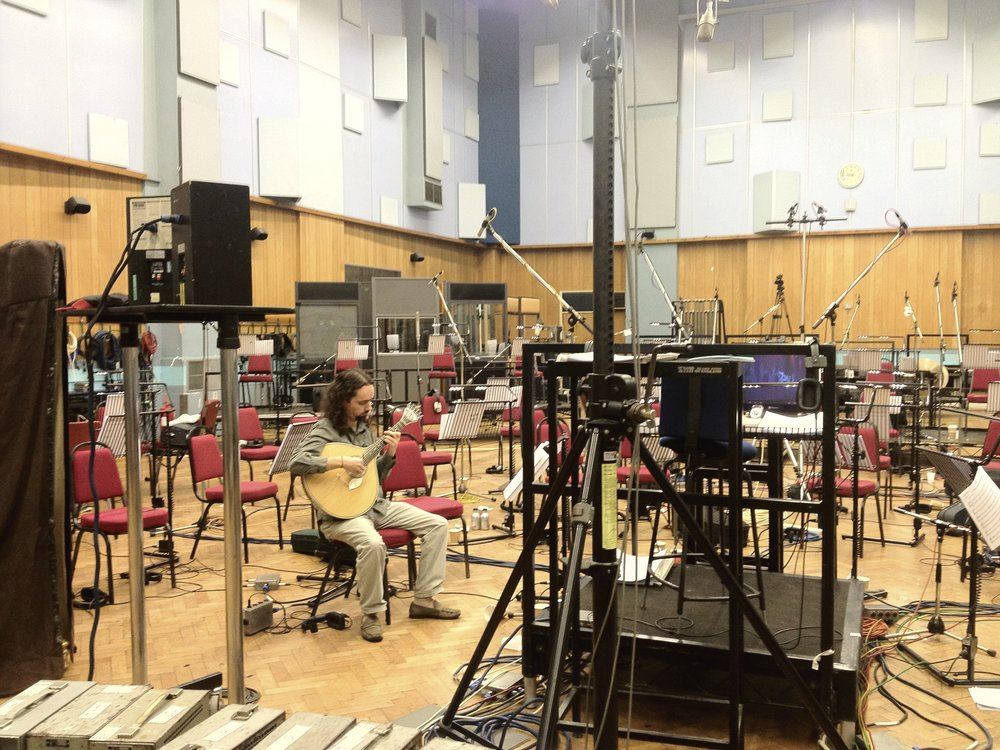 da Silva practicing to record with the London Metropolitan Orchestra in Abbey Road Studio 1