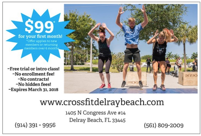 Making a change can be scary, we got your back! - Ready to get fit in 2018?At Crossfit Delray Beach,we are committed to creating the best version of you!What better way to get started than with our $99 New Year's Special. One month of Unlimited Crossfit and Bootcamp classes. No sign-up fee. No contract. No obligation.Click the link below to get started. See you at the gym!