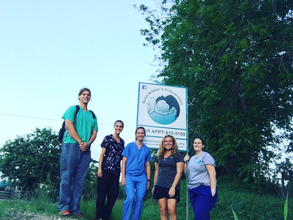 The BWRC interns and I in front of the clinic.