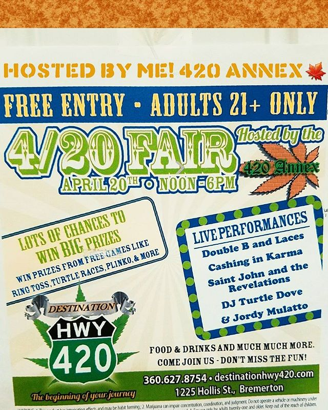BE AT THE 420 FAIR OR BE SQAURE!🎉🎉 See you 420 Sunday Bremerton!🍁 #420annex #420fair #potapperal #420activities #prizes #potlife #growersswag #420festivites #420lifestyle #420apparel  #hemp #fun420event #420event #livelifehigh #girlswhosmokeweed #budsandnugs #420love #eastbremerton #newstore #giftshop #bremerton #destinationhwy420 #destination420 #pnwlove #Bremertonlove #weloveweed #pnwweed #desthwy420 #budtenderlife