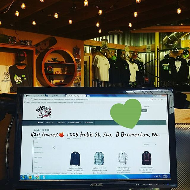 Day 6 and Im already ordering out of stock swag🍁  We are so thankful for the great business and happy to see the excited faces from our customers!😊 #420annex #420fair #potapperal #420activities #potlife #growersswag #420lifestyle #420apparel  #hemp #fun420event #420event #livelifehigh #girlswhosmokeweed #420love #eastbremerton #newstore #giftshop #bremerton #destinationhwy420 #destination420 #pnwlove #Bremertonlove #weloveweed #pnwweed #desthwy420