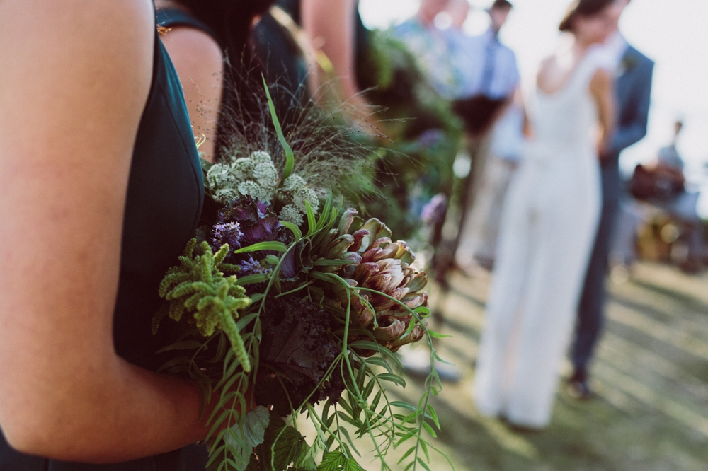 edible kale themed bouquet with herbs and berries