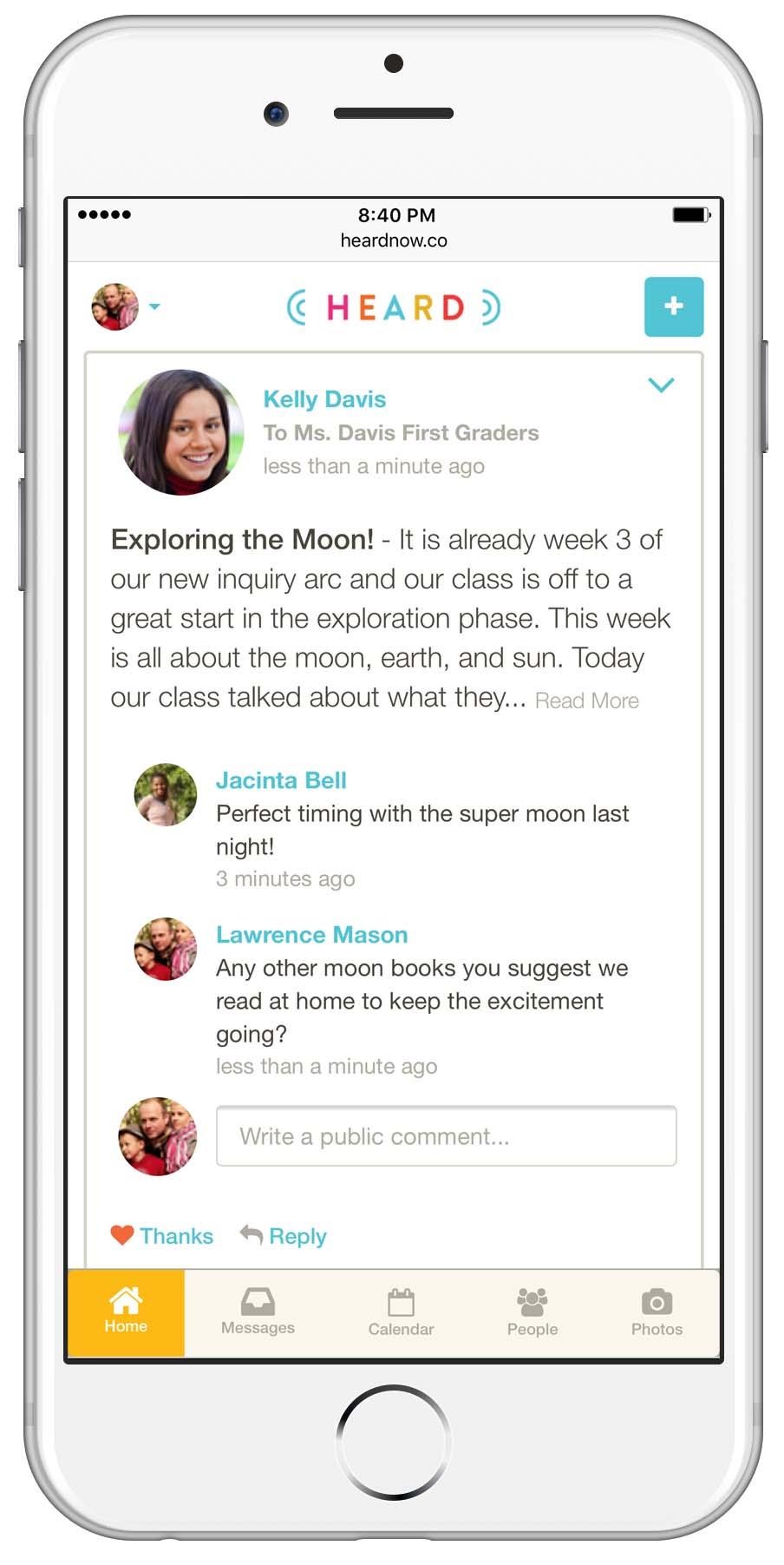 School and parent communication platform and mobile app