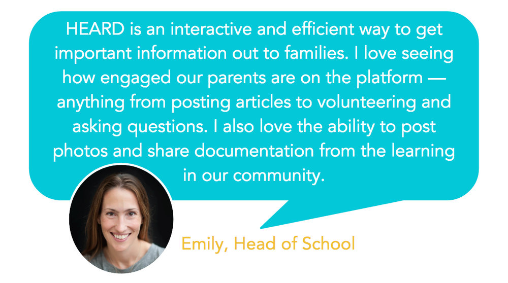 Testimonial - Parents easily engage on Heard school communication platform