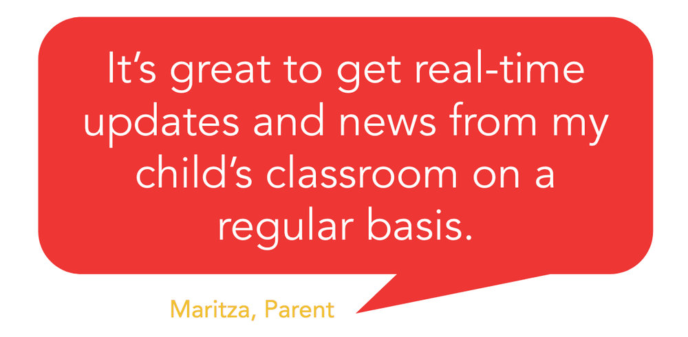 get real time updates from classroom - testimonial - Heard school communication platform