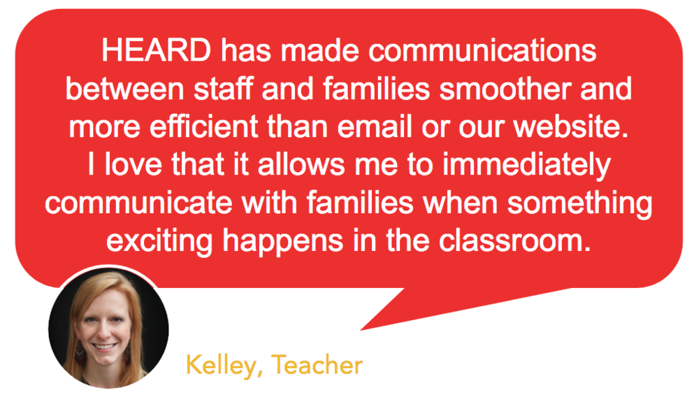 Testimonial - Heard school communication platform makes communication easy between families and school staff.