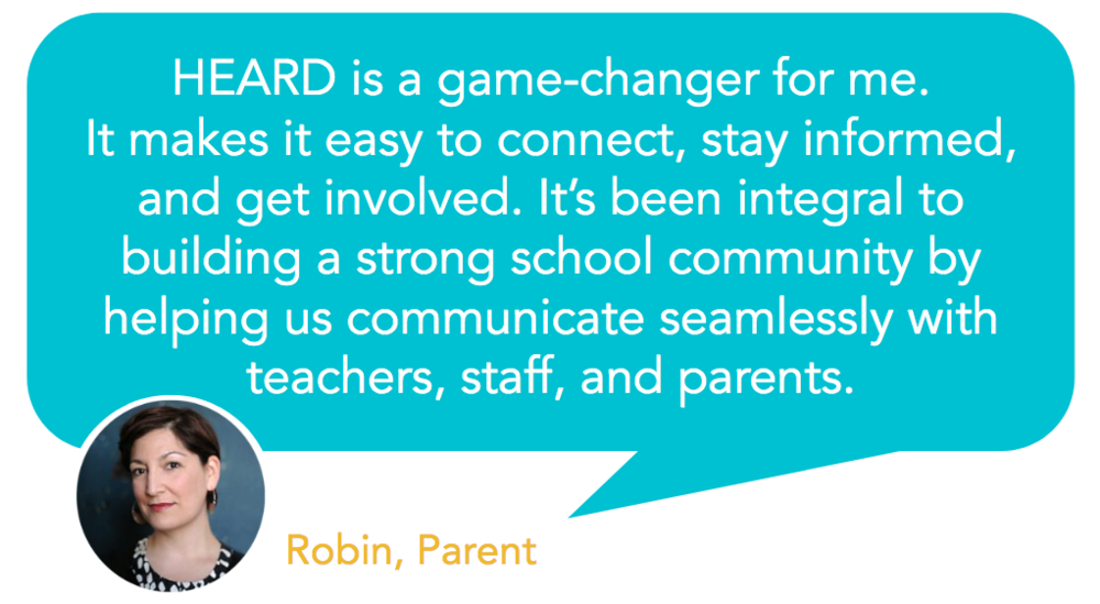 Heard is a game changer when it comes to school and group communication - testimonial