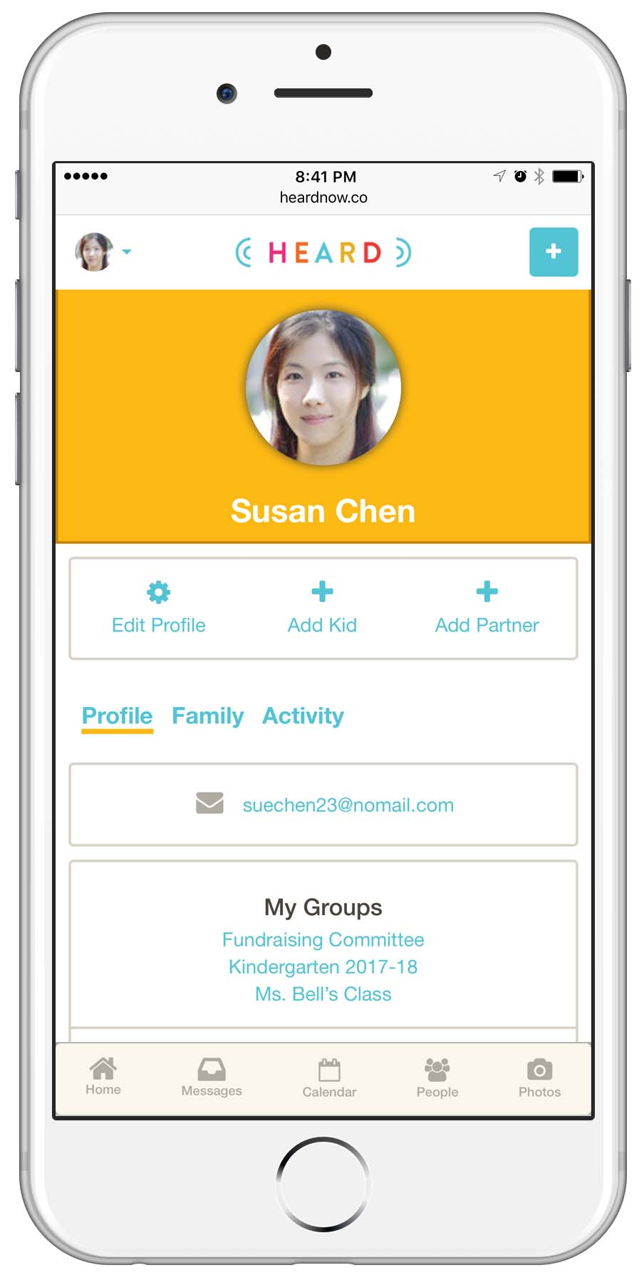 Connect easily with others on Heard school communication platform - screen shot