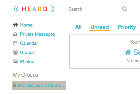 5. Go to My Groups on the left menu of the home page. Click on the class group you created.  -