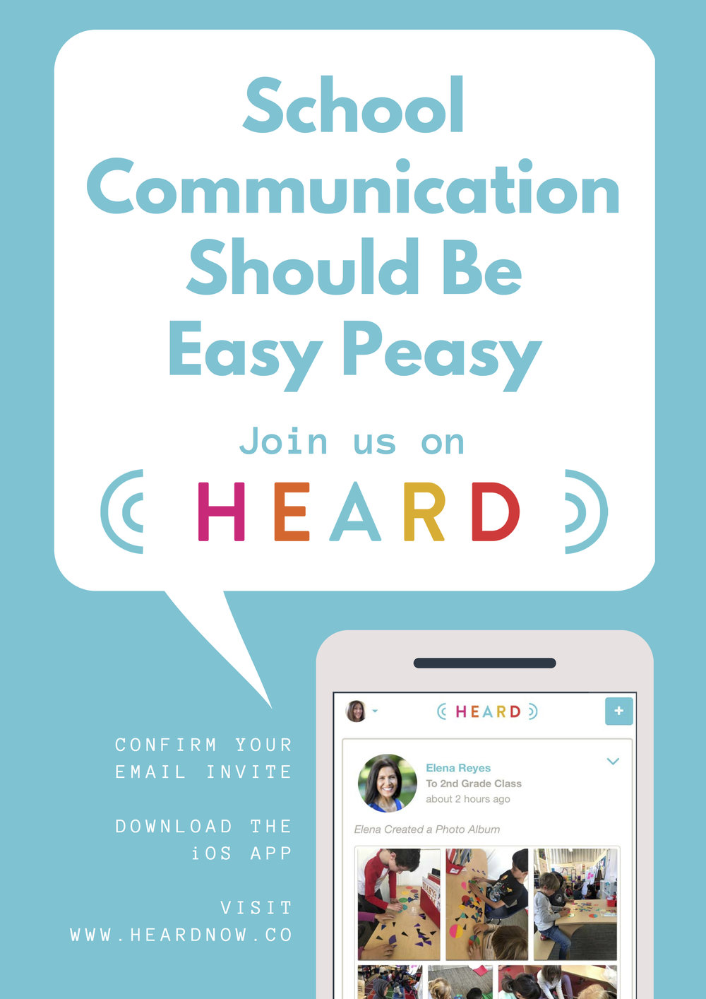 HEARD is a parent teacher communication app; HEARD school communication tool; HEARD school communication platform