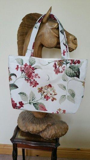 Handmade Designer Tote Bag (large) - Summer Flowers In Bloom ... d065448b614a4